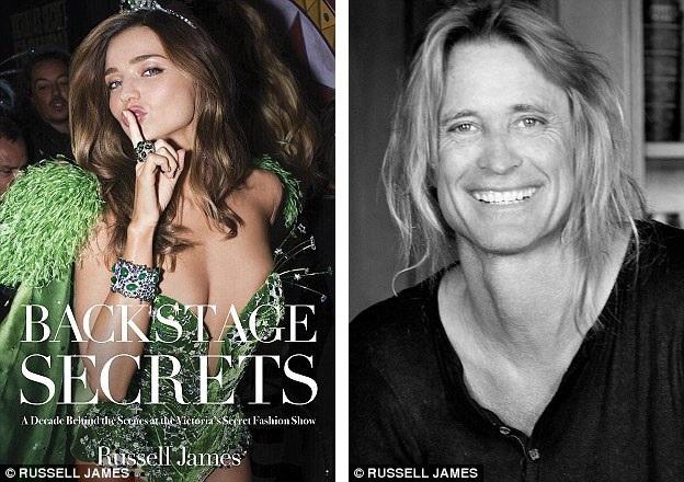 """Nhiếp ảnh gia Russell James (phải) suốt 20 năm qua đã được đặc cách xuất hiện trong hậu trường của show trình diễn thời trang nội y Victorias Secret. Mới đây, tay máy này đã cho ra mắt cuốn sách ảnh với những khuôn hình ấn tượng của các """"thiên thần nội y""""."""