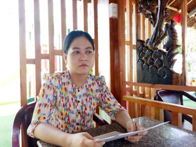 Bà Lê Thị Thùy Linh bức xúc vì cho rằng mình bị trù dập dù bà không sai.