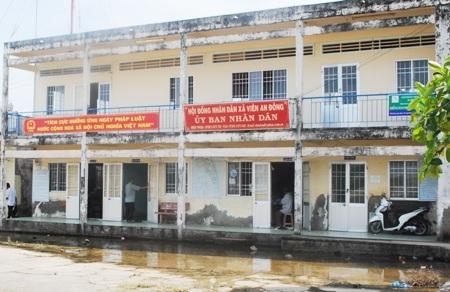 UBND xã Viên An Đông, nơi xảy ra nhiều khuất tất trong hỗ trợ kinh phí sản xuất chương trình nông thôn mới.