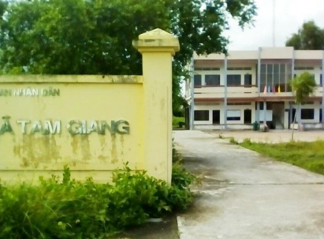 UBND xã Tam Giang- nơi Chủ tịch xã bị kỷ luật cảnh có nhưng vẫn cho tại vị.