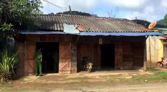 Căn nhà nơi xảy ra vụ xô xát