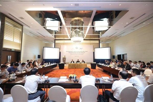 Toàn cảnh hội nghị phát triển ngành điều bền vững gắn với chuỗi giá trị toàn cầu diễn ra sáng nay (30/9)