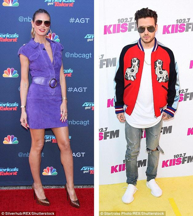 Người mẫu Heidi Klum (trái) và cựu thành viên One Direction - Liam Payne (phải) cùng yêu mến những chiếc kính phi công.