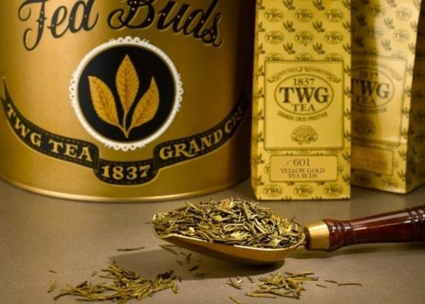 Loại trà thuộc hàng thượng hạng sang trọng này được phát triển bởi một công ty của Singapore. Búp trà được sơn hoàn toàn bằng vàng thật 24 karat và có mức giá 3.000USD cho 100 gram trà.