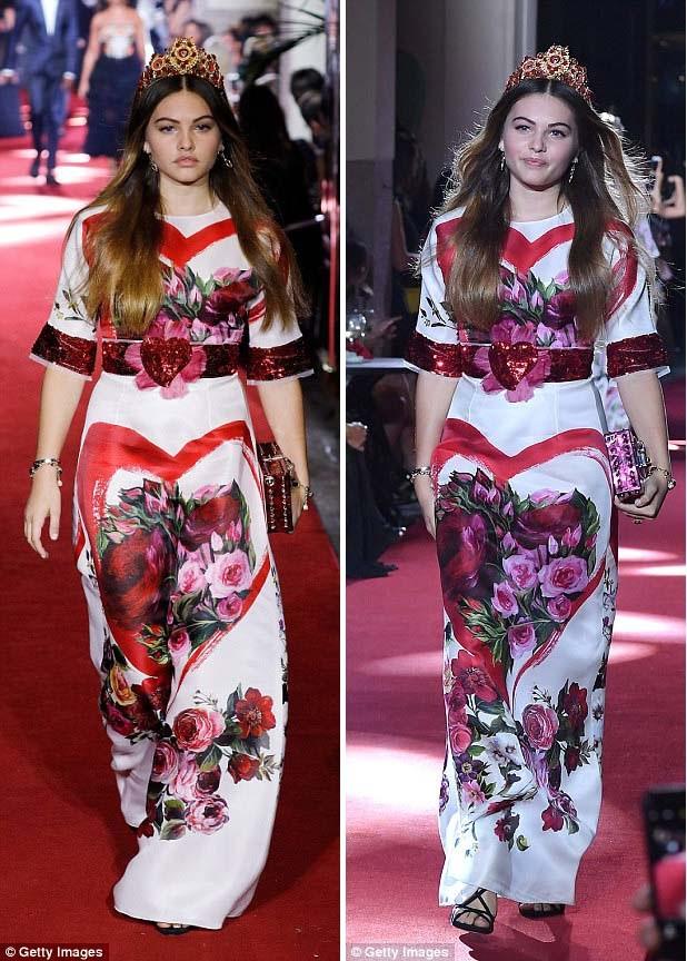 Mới đây nhất, cuối tuần qua, tại Tuần lễ Thời trang Milan, Thylane đã từ vai trò khách mời chuyển sang làm người mẫu catwalk. Cô trình diễn trong show Xuân 2018 của nhà mốt Dolce & Gabbana.