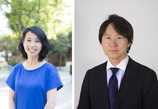 Cô Ishibiki và anh Hirooka, hai chuyên gia sẽ tham gia buổi giao lưu về chăm sóc da và dinh dưỡng cho bé