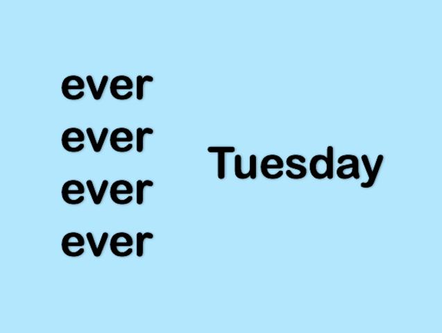 Gợi ý: Có mấy từ ever?