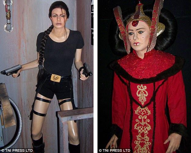 """18 và 19. Nữ diễn viên vào vai """"kẻ cướp lăng mộ"""" (ảnh trái). Nữ diễn viên từng vào vai một vũ công ba-lê, sau đó tham gia diễn xuất trong loạt phim khoa học viễn tưởng kể về """"chiến tranh giữa các vì sao"""" (ảnh phải)."""
