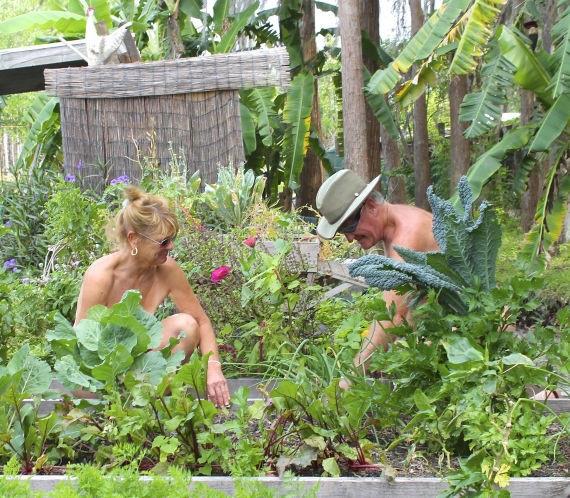 Đỏ chín mặt với kiểu làm vườn không mặc gì - 5