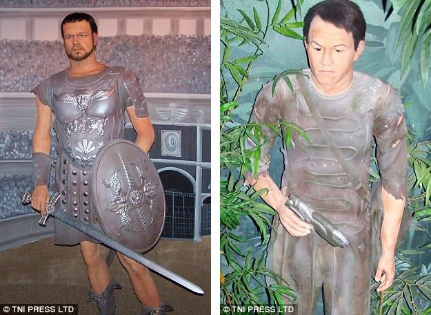 """24 và 25. Nam diễn viên vào vai võ sĩ dũng mãnh thời trung cổ (ảnh trái). Nam diễn viên từng đặt chân tới """"hành tinh khỉ"""" (ảnh phải)."""