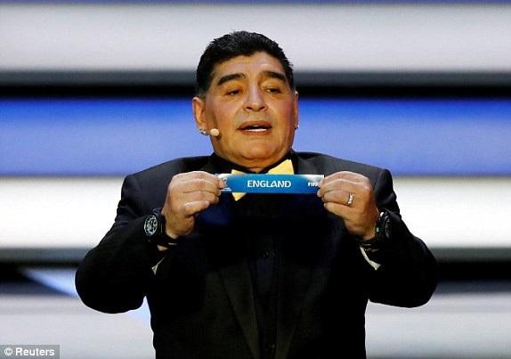 Huyền thoại Maradona có mặt tại lễ bốc thăm vòng bảng World Cup 2018