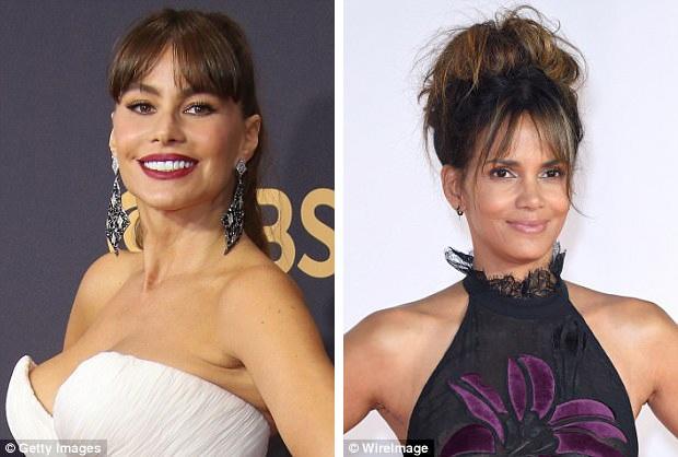 Dạng tóc mái mưa hiện được rất nhiều ngôi sao lựa chọn, như các diễn viên Sofia Vergara (45 tuổi - trái) và Halle Berry (51 tuổi - phải).