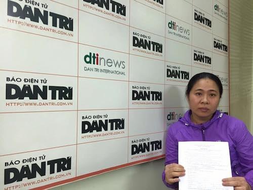Chị Trương Thị Nhang (SN 1976, trú tại tổ 9, phường Phùng Chí Kiên, TP. Bắc Cạn) gửi Đơn kêu cứu đến Báo Dân trí.