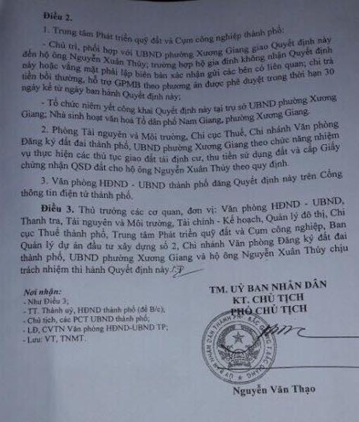 """UBND TP Bắc Giang """"chuyển hướng"""" bồi thường có lợi cho dân sau loạt bài trên Báo Dân trí."""