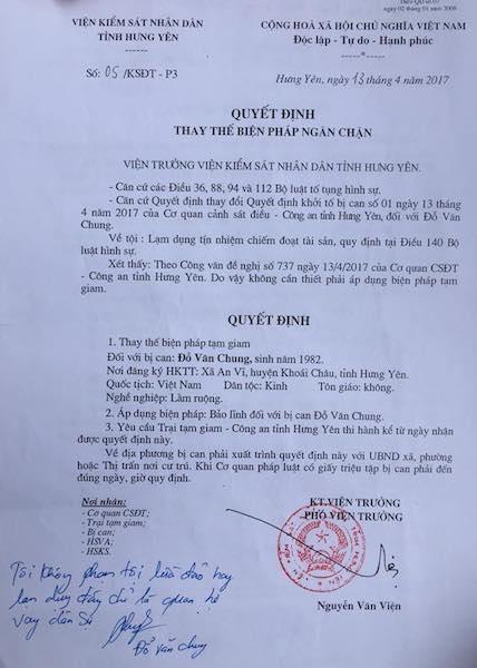 VKSND tỉnh Hưng Yên quy kết sai tội, bị can được tại ngoại sau gần 3 năm tạm giam - 1