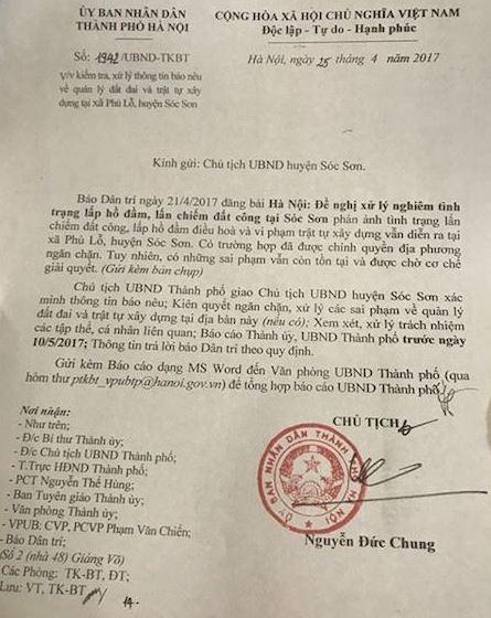 Chủ tịch TP Hà Nội chỉ đạo làm rõ vụ lấp hồ, chiếm nơi ở của đàn cò vạc nghìn con - 1