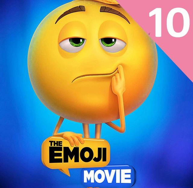 """""""The Emoji Movie"""" (Đội quân cảm xúc) đứng thứ 10 với 1 triệu USD."""