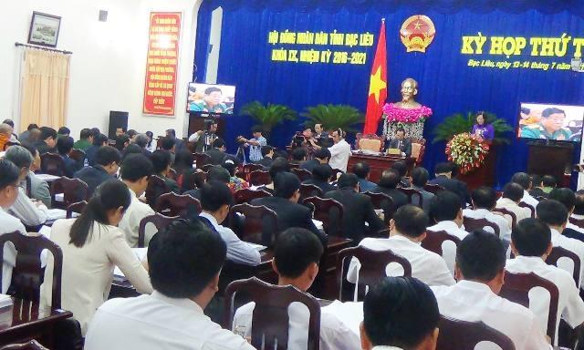 Kỳ họp lần thứ 4 - HĐND tỉnh Bạc Liêu khóa IX diễn ra từ ngày 13-14/7.