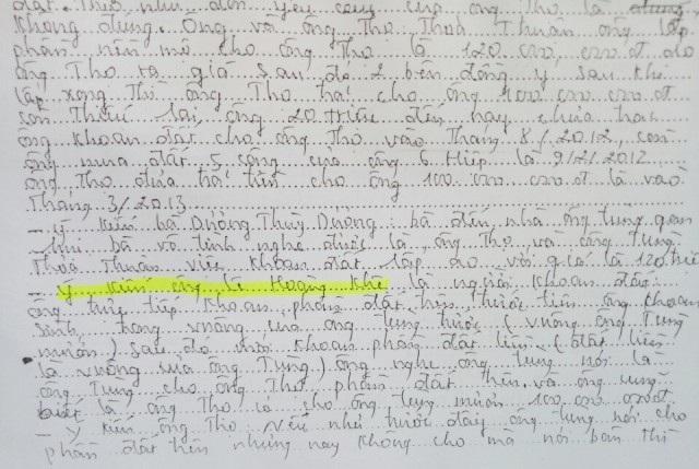 Tháng 3/2013, ông Thọ mới đến ngân hàng rút tiền đưa cho ông Tùng Em. Nhưng khi khoan đất vào tháng 8/2012, ông Lê Hoàng Khê đã nghe việc ông Thọ cho ông Tùng Em mượn tiền...