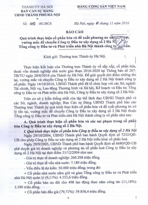 """Chính thức đề xuất phương án giải cứu vụ cổ phần hoá """"vịt trời"""" tại HACINCO - 1"""