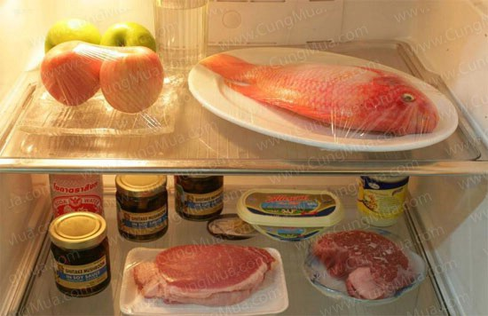 Đồ ăn trong ngày có thể để ngăn mát tủ lạnh nhưng cần bọc kín, xếp thông thoáng để luồng khí được lưu thông tốt hơn.