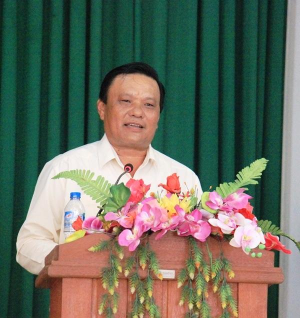 Ông Lê Kim Toàn, Phó Bí thư Thường trực Tỉnh ủy, Trưởng đoàn đại biểu Quốc hội tỉnh Bình Định, nói với bà con cử tri: Tôi không làm điều gì dối Đảng, dối nhân dân.