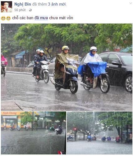Những hình ảnh mưa đã đời sau gần một tuần nắng nóng kéo dài.
