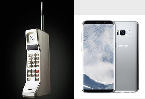 Vào năm 1983, Motorola cho ra mắt chiếc DynaTAC như một thiết bị liên lạc cầm tay đầu tiên trên thế giới với mức giá trên trời 3995 USD (tương đương với gần 9000 USD hiện tại). Thế nhưng sau hơn 30 năm phát triển, chẳng còn ai nhìn thấy bóng dáng của chiếc điện thoại cổ ở những mẫu smartphone thời thương. Chúng cũng rẻ hơn đáng kể và dễ tiếp cận với người tiêu dùng ở mọi phân khúc.