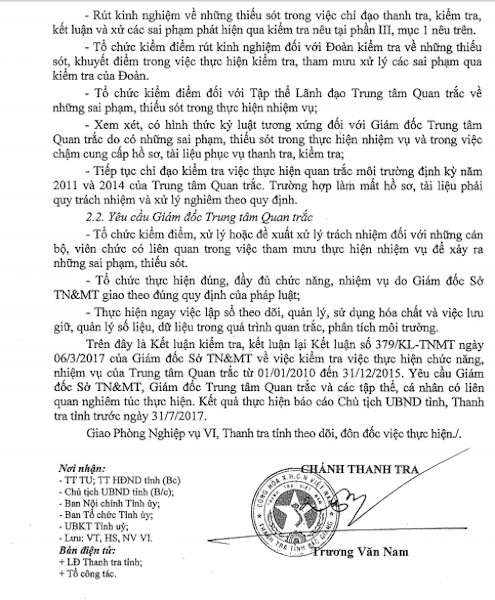 """Thanh tra tỉnh Bắc Giang kết luận hàng loạt sai phạm tại Trung tâm quan trắc đấu thầu lạ, tạo """"bùa hộ mệnh"""" cho doanh nghiệp."""