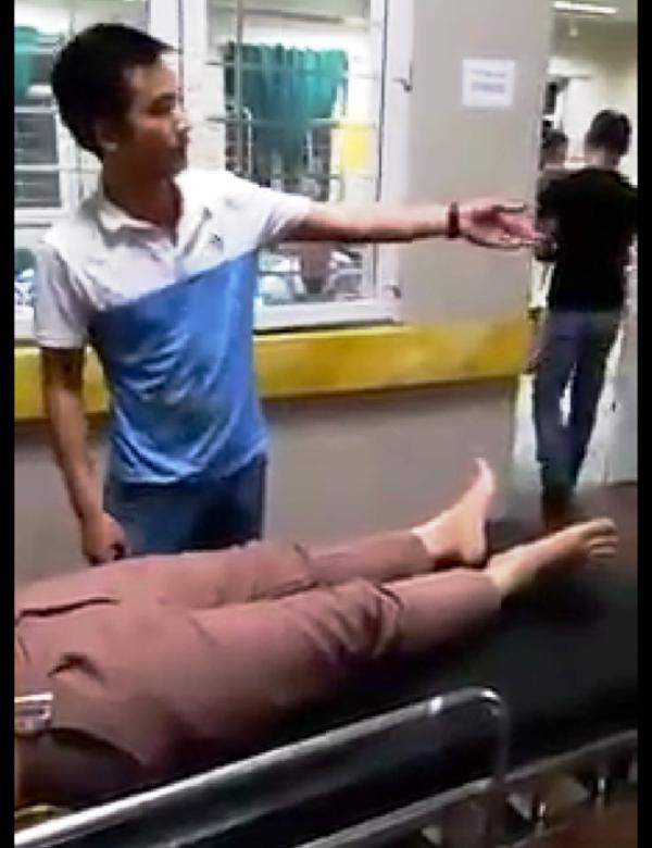 Đối tượng Cao Việt Thắng đưa bệnh nhân Duyên vào bệnh viện cấp cứu, liên tục có hành vi chửi bới, lăng mạ nhân viên y tế bệnh viện.