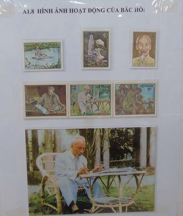 Triển lãm bộ sưu tập tem về cuộc đời và sự nghiệp của Bác