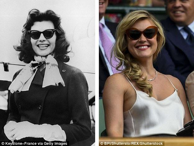 Nữ diễn viên Rita Hayworth (trái) hồi năm 1957. Nữ ca sĩ Camilla Kerslake (phải).