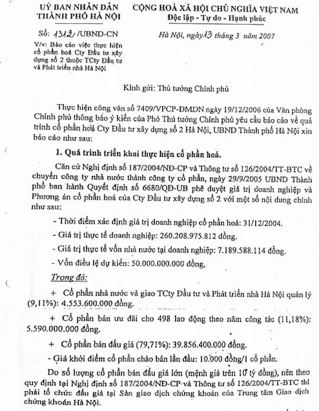 """Những căn cứ """"tuýt còi"""" dự thảo báo cáo Thủ tướng vụ cổ phần hóa HACINCO! - 6"""