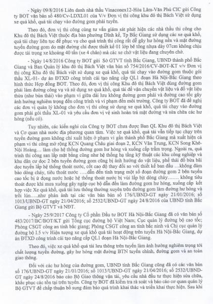 """Bắc Giang: Đường gom cao tốc """"hành"""" dân, nhà đầu tư cam kết khắc phục trước Tết nguyên đán - 2"""