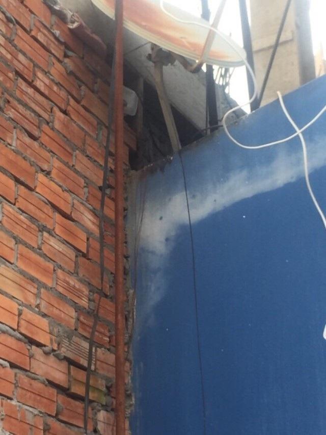 Hình ảnh thể hiện căn nhà số 1-3 Đề Thám lấn lên căn nhà bà Trần Thu Thủy.