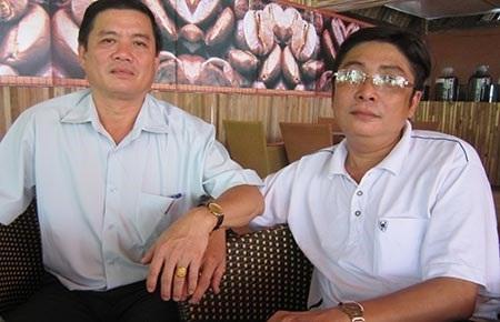 Ông Bùi Quốc Khánh (phải) và ông Phạm Thành Chung (ảnh: PLTPHCM)