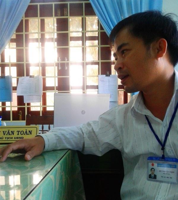 Ông Huỳnh Văn Toàn - Phó chủ tịch UBND xã Tây Phú (huyện Tây Sơn) xác nhận, hiện nay trên địa bàn xã không có đơn vị nào được cấp phép khai thác khoáng sản