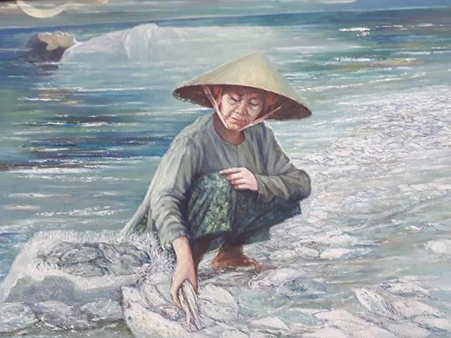 Bức tranh biển chết của hoạ sĩ Nguyễn Nhân