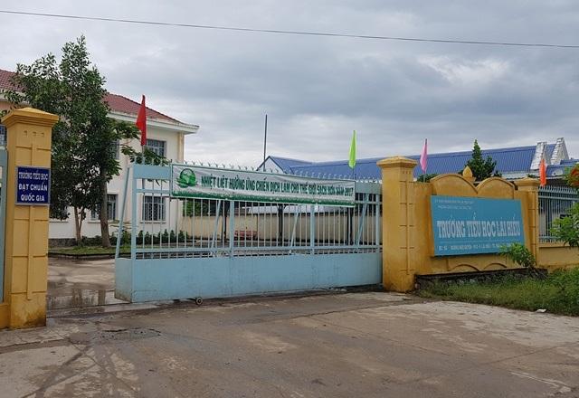 Trường tiểu học Lái Hiếu, nơi có hàng trăm em học sinh phải nhập viện sau khi uống sữa