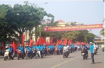Diễu hành tuyên truyền tác hại của thuốc lá tại Thái Bình.