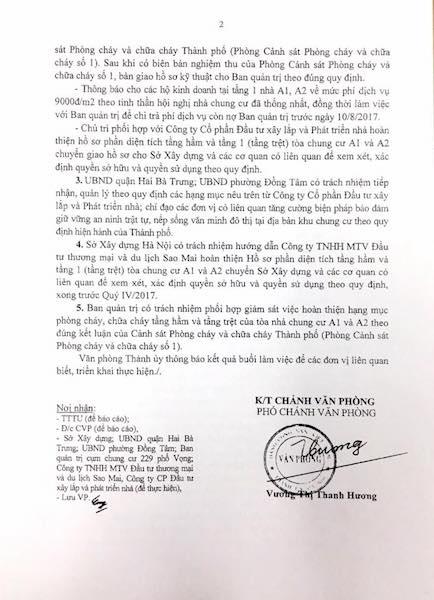 Thành uỷ Hà Nội chỉ đạo xử lý vụ cư dân 229 phố Vọng đồng loạt kêu cứu!