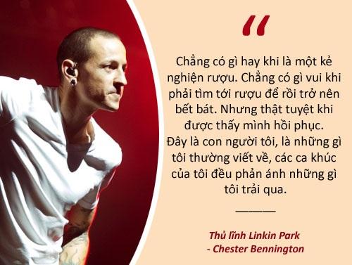 Xem thêm: Chester Bennington - thủ lĩnh nhóm Linkin Park tự tử ở tuổi 41 Thủ lĩnh Linkin Park tự sát trong ngày sinh nhật bạn thân: Chân dung một tình bạn