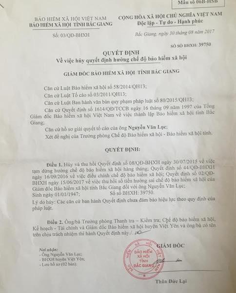 Hai cụ già cay đắng kiện giám đốc BHXH tỉnh Bắc Giang ra tòa, luật sư nói gì? - 3