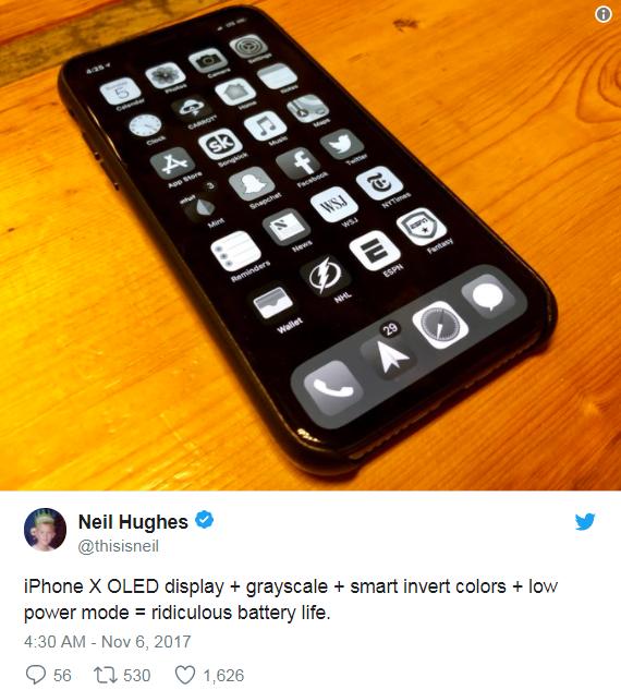 Người dùng chia sẻ mẹo tiết kiệm pin hiệu quả trên iPhone X và các mẫu iPhone khác.