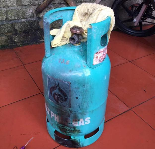 Bình gas bị rò rỉ và phát nổ