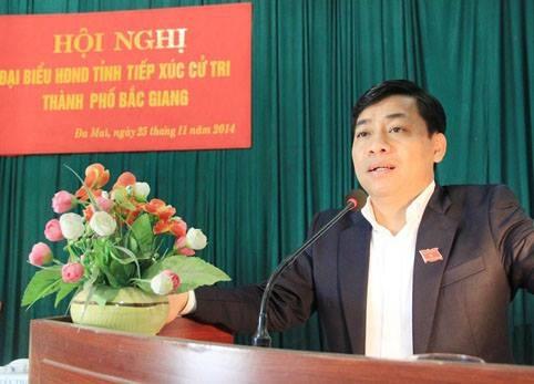 Thời điểm sai phạm xảy ra, ông Dương Văn Thái là Chủ tịch UBND TP. Bắc Giang và sau đó được thăng lên làm Phó chủ tịch UBND tỉnh Bắc Giang. (ảnh: Cổng TTĐT Bắc Giang).