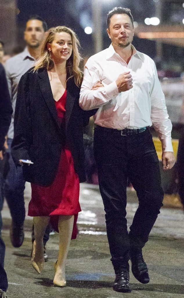 Musk và nữ diễn viên Hollywood - Amber Heard.