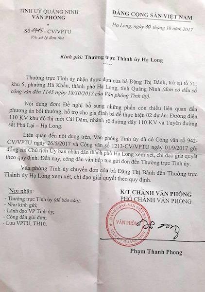 Văn phòng tỉnh ủy Quảng Ninh tiếp tục đốc thúc TP Hạ Long giải quyết đơn thư công dân.