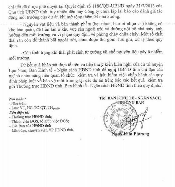 Thêm bằng chứng tố sự bất chấp pháp luật của doanh nghiệp chống lệnh Chủ tịch tỉnh Bắc Giang! - 3