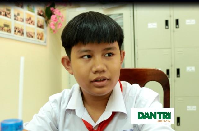 Em Trần An Khánh học sinh lớp 8A1 trường THCS An Hòa 1, quận Ninh Kiều, TP Cần Thơ